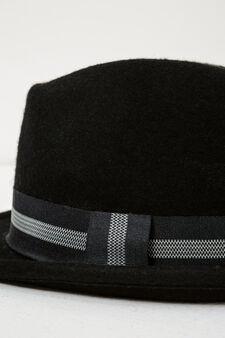 Wool hat with wide brim, Black, hi-res