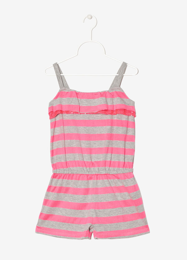 Short playsuit with straps | OVS