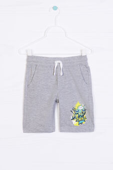 Teenage Mutant Ninja Turtle print cotton shorts, Grey Marl, hi-res