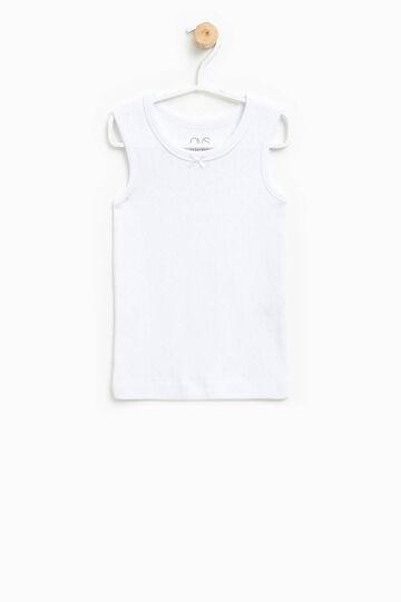 Openwork under vest, White, hi-res