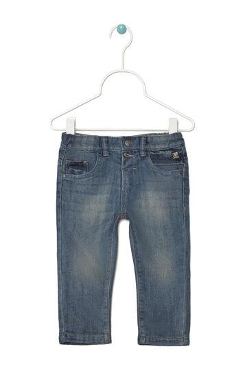 Worn-effect, regular-fit jeans, Denim Blue, hi-res