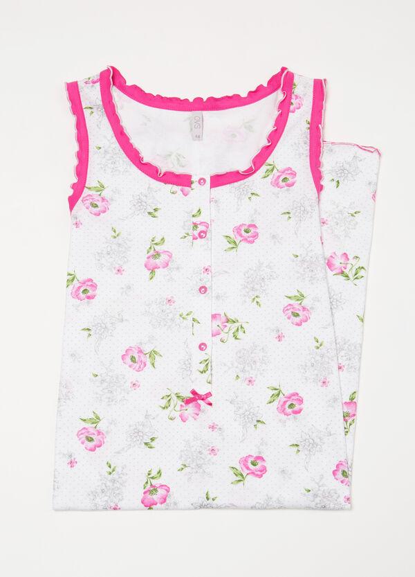 Floral patterned cotton nightshirt | OVS
