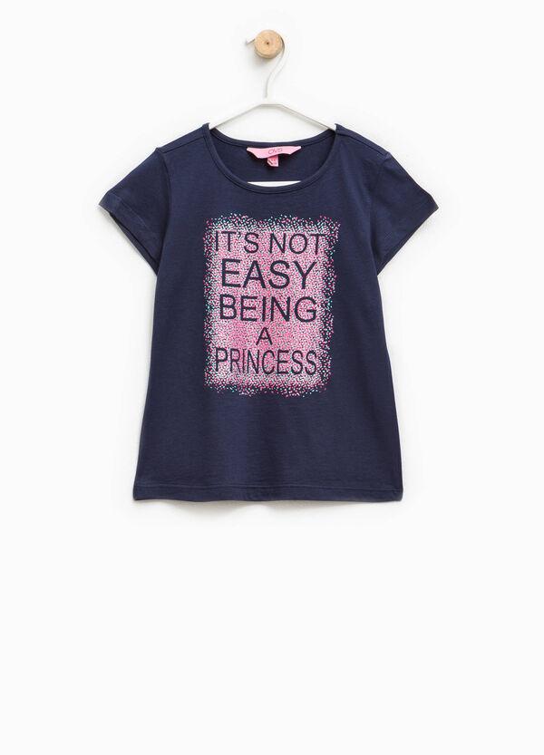 T-shirt with round neckline   OVS