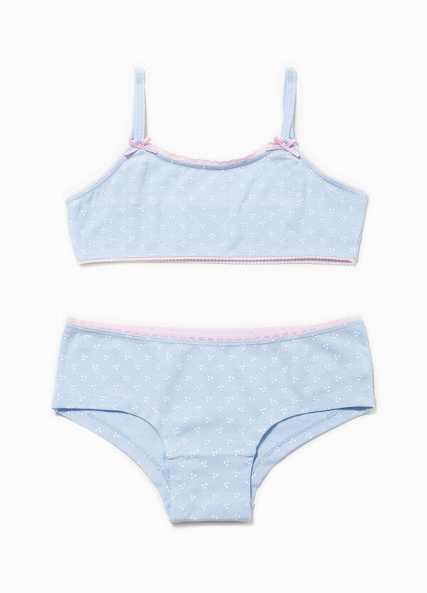 Bandeau bra and French knickers underwear set | OVS