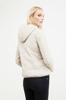 Jacket with faux fur lining, Beige, hi-res