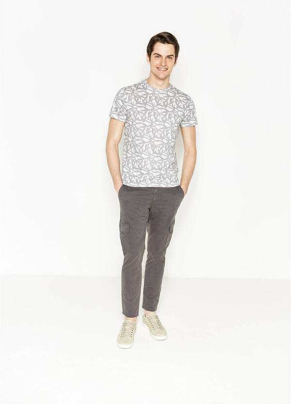 Camiseta de algodón con estampado floral | OVS