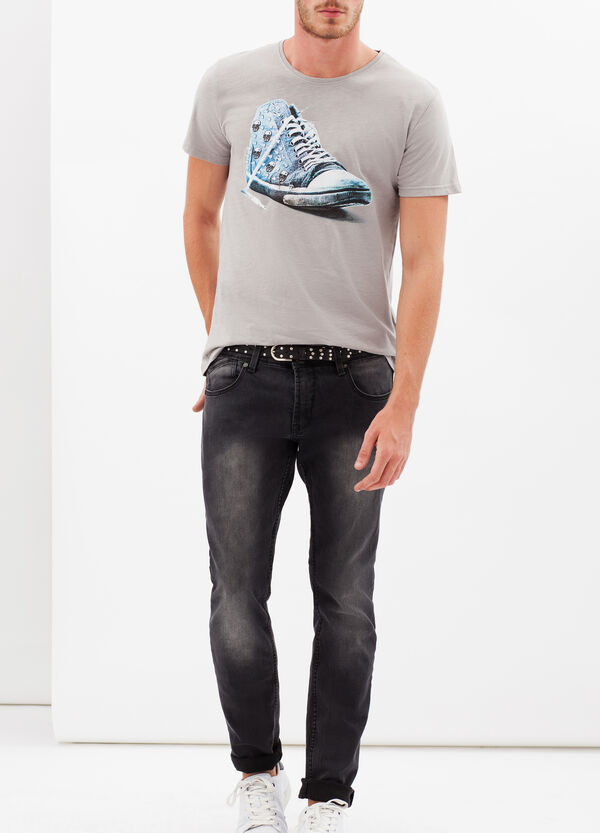 T-shirt con stampa a contrasto | OVS