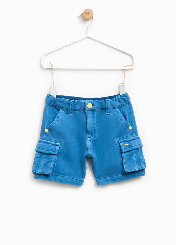 100% cotton shorts with zip | OVS