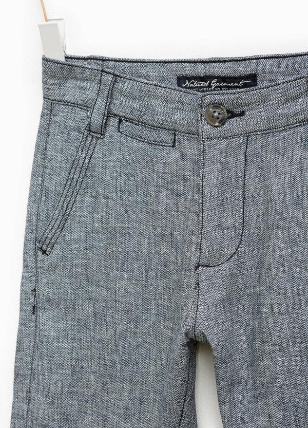 Linen and cotton Bermuda shorts | OVS