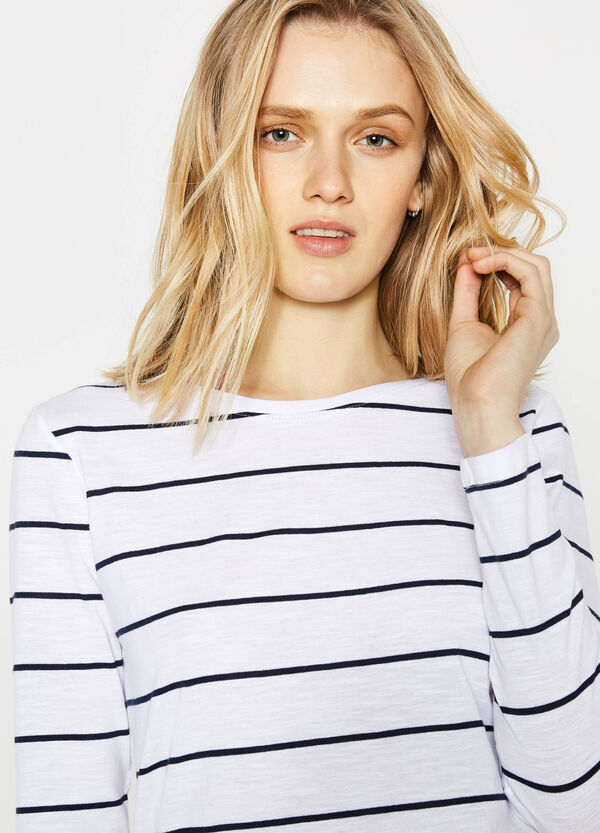 Striped T-shirt in 100% cotton | OVS