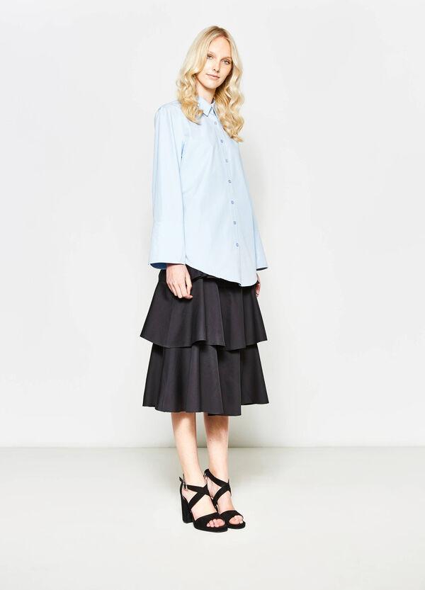 Camicia in cotone con polsino alto | OVS