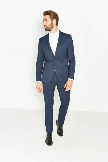 Abito slim fit in misto viscosa stretch, Blu, hi-res