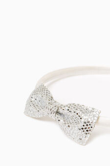 Hairband with bow, Light silver grey, hi-res
