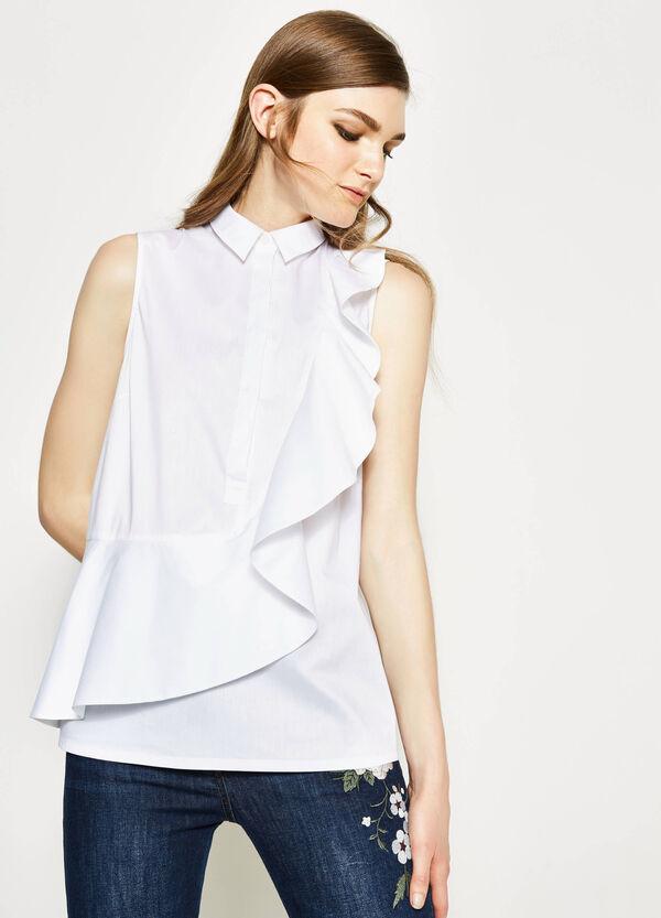 Sleeveless frilled blouse   OVS