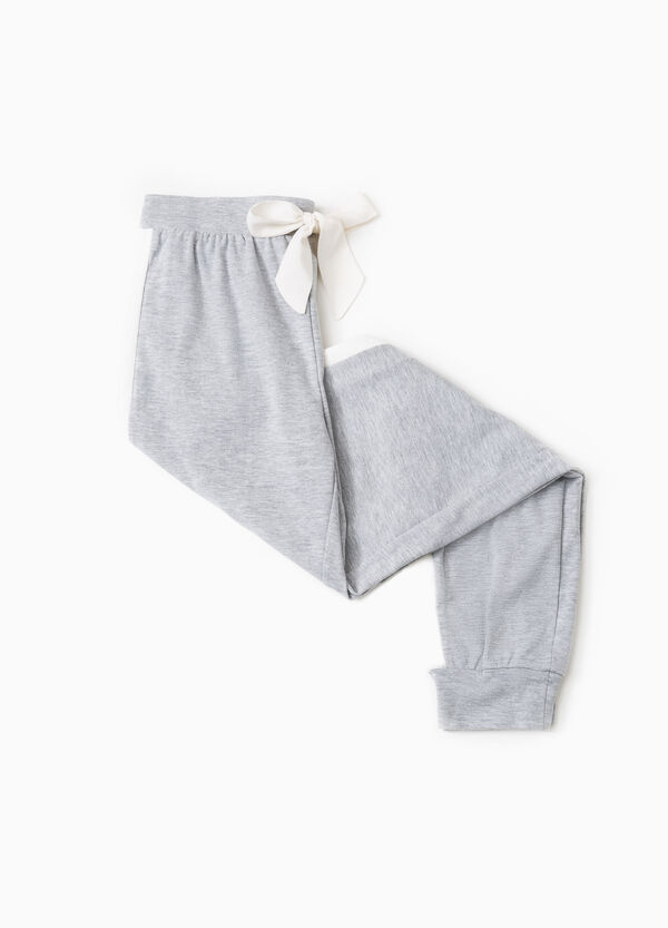 Pyjama trousers with contrasting bands | OVS