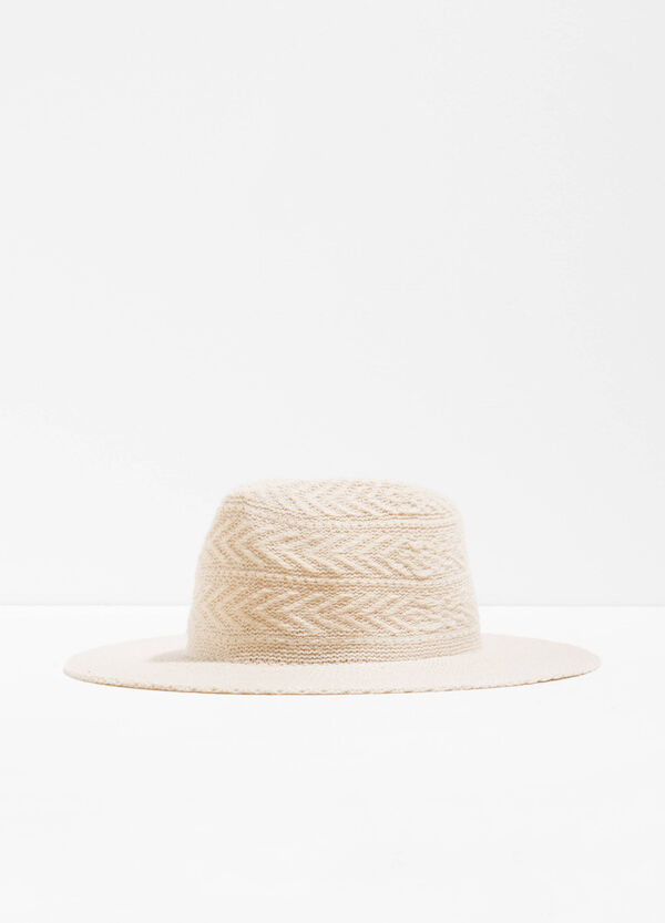 Wide-brimmed hat with weave | OVS