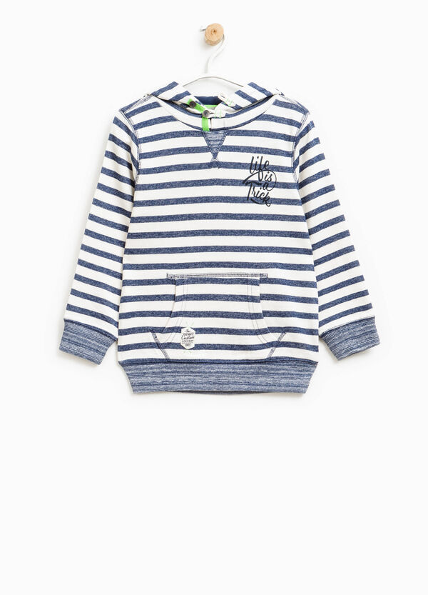 Striped sweatshirt with pouch pocket | OVS