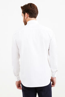 Solid colour, regular-fit formal shirt, White, hi-res