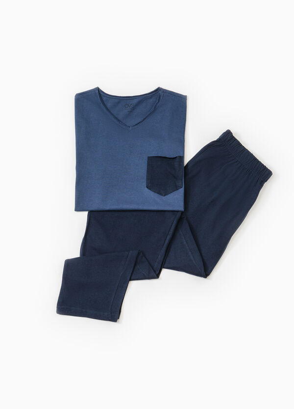 Solid colour pyjamas with pocket | OVS