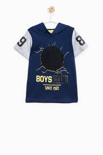 Camiseta con mangas en contraste, Azul/Gris, hi-res