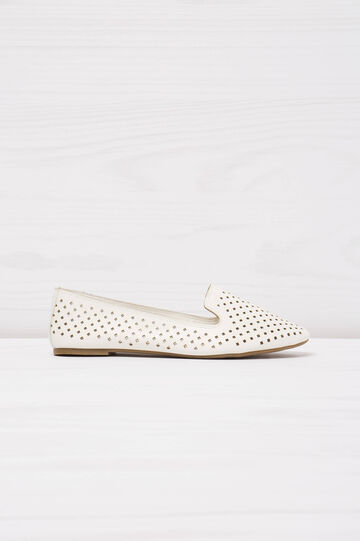 Slip-on traforate tinta unita, Bianco, hi-res