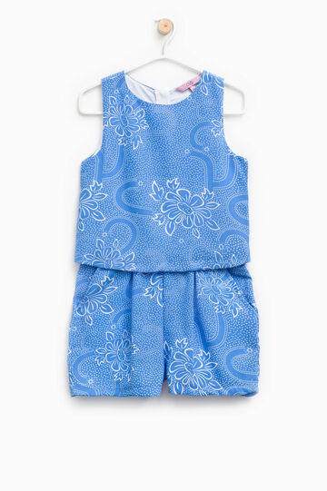 Sleeveless onesie with all-over print