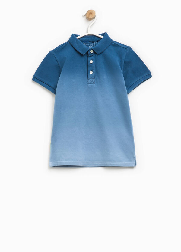 100% cotton degradé polo shirt | OVS