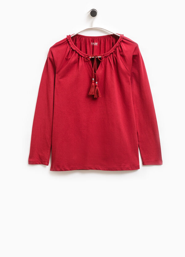 Smart Basic T-shirt with flounce and tassels | OVS