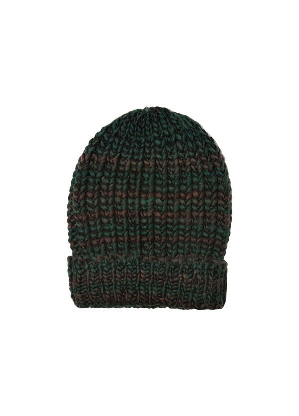 Striped cotton knitted beanie cap | OVS