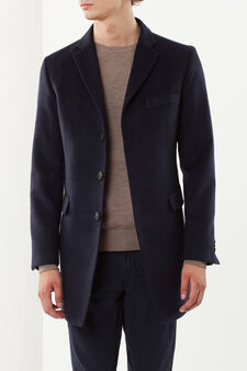 Coat with lapels, Blue, hi-res