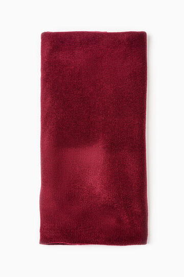 Solid colour scarf, Claret Red, hi-res