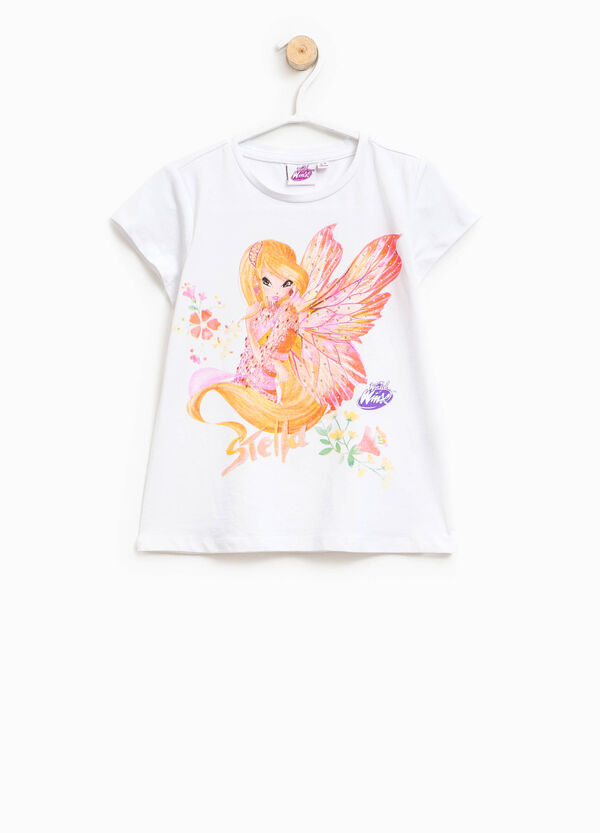Cotton T-shirt with Winx glitter print | OVS