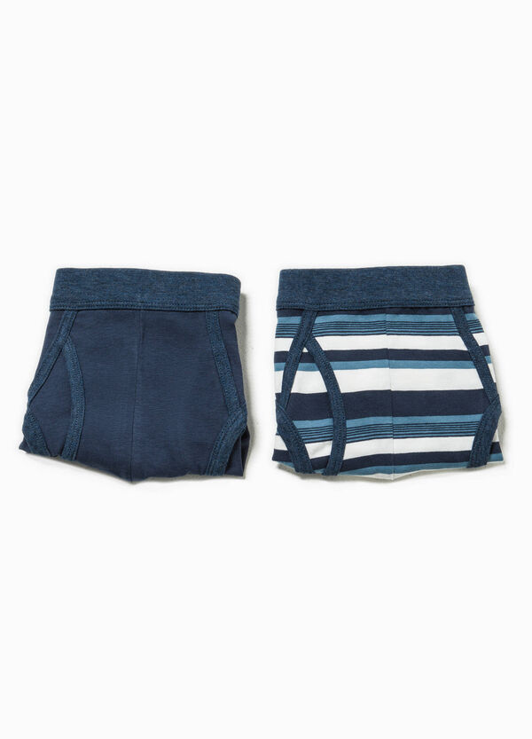 Two-pack solid colour and striped briefs | OVS