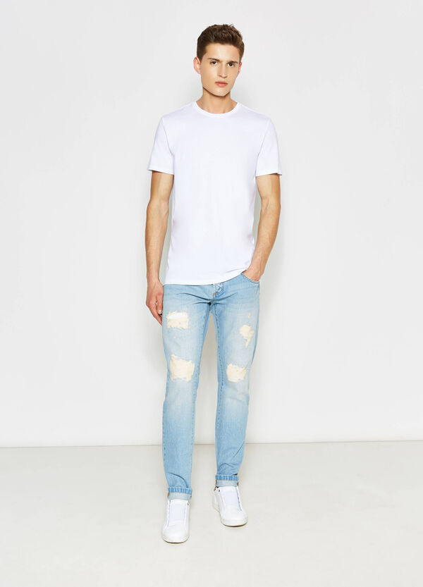 Jeans straight fit effetto used | OVS