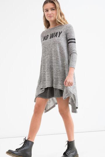 Teen printed dress, Grey, hi-res