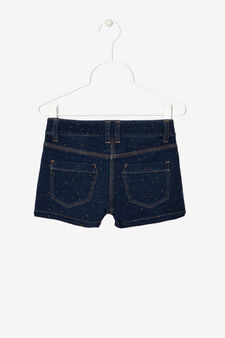 Five-pocket shorts with polka dots, Dark Beige, hi-res