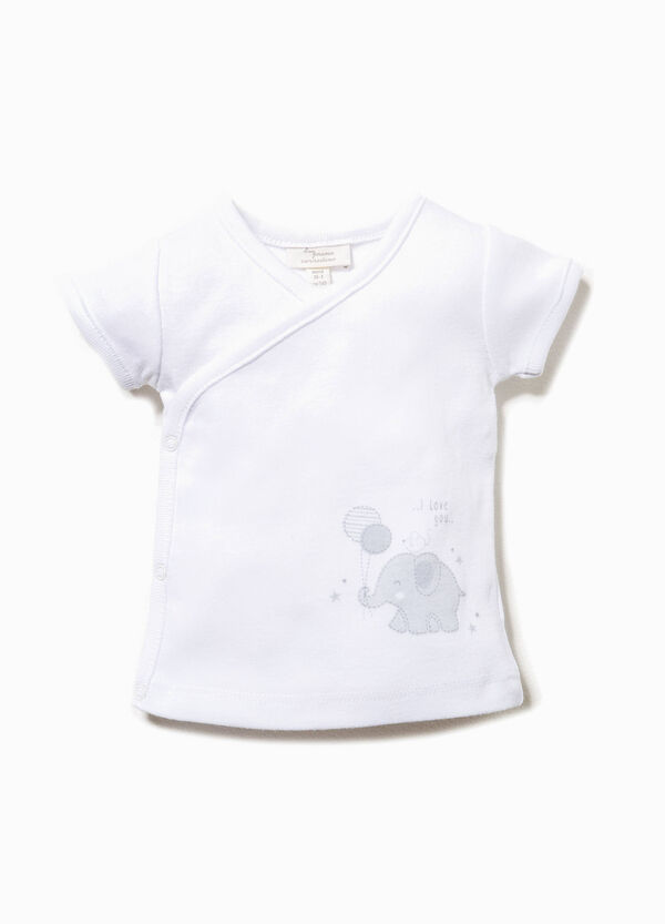 Cotton T-shirt with animal print | OVS