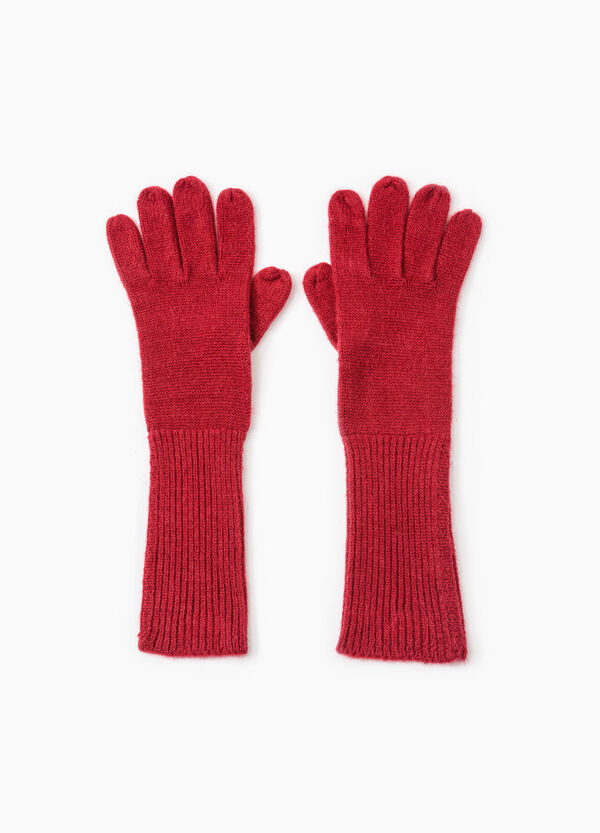 Long solid colour gloves | OVS