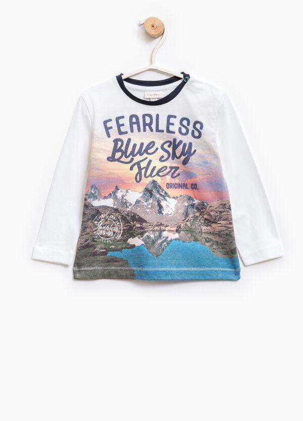 T-shirt cotone con maxi stampa   OVS