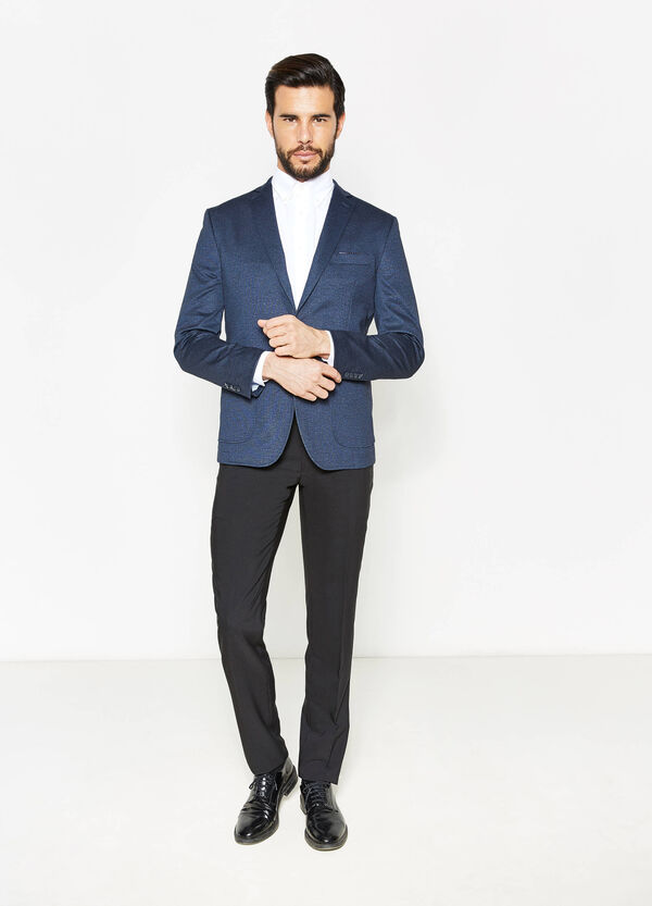 Viscose blend blazer with two-button fastening | OVS