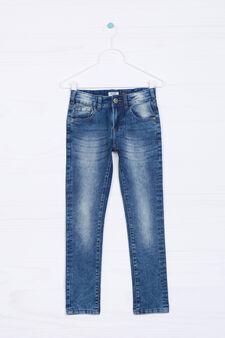 Jeans skinny fit stretch maltinti, Lavaggio medio, hi-res