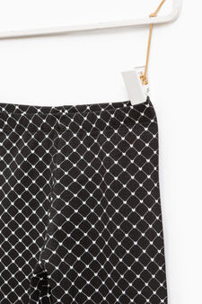 Patterned stretch leggings, Black, hi-res