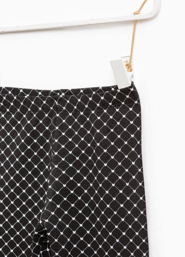 Patterned stretch leggings | OVS