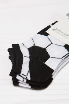 Two-pair pack stretch socks, White/Black, hi-res