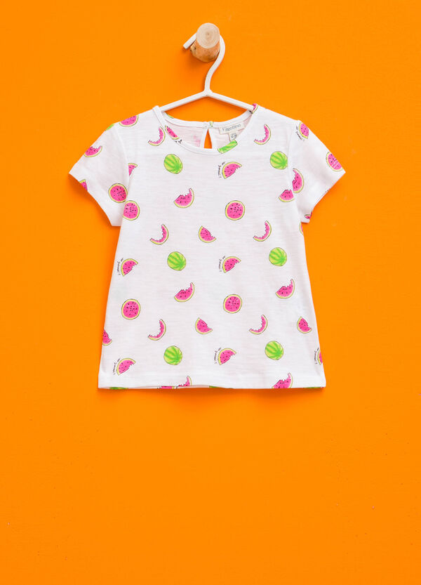 T-shirt in cotone stampa all-over | OVS