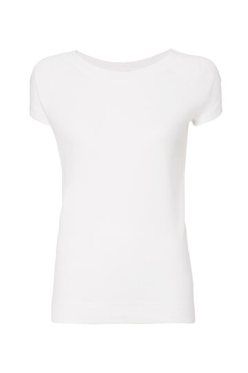Smart Basic T-shirt with lace back, White, hi-res