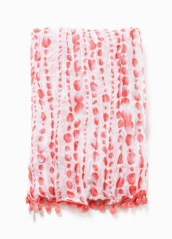 Polka dot scarf with trim | OVS