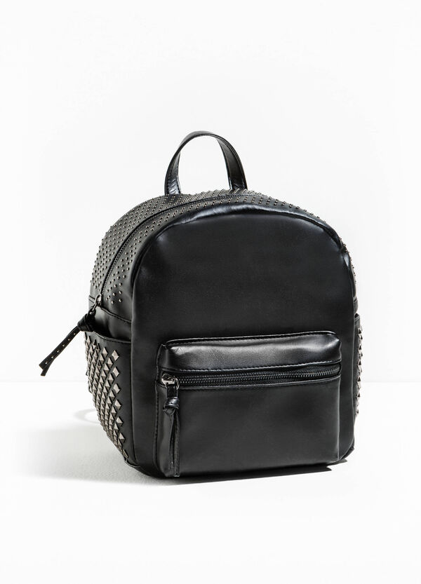 Solid colour backpack with studs | OVS