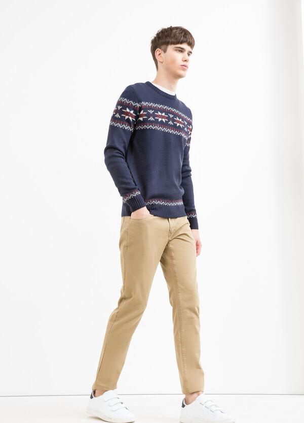 Jersey en punto tricot con bordados G&H | OVS