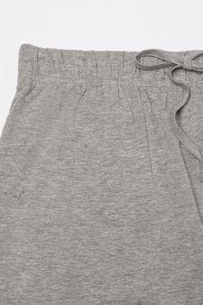 Set of two pyjama bottoms, Blue/Grey, hi-res